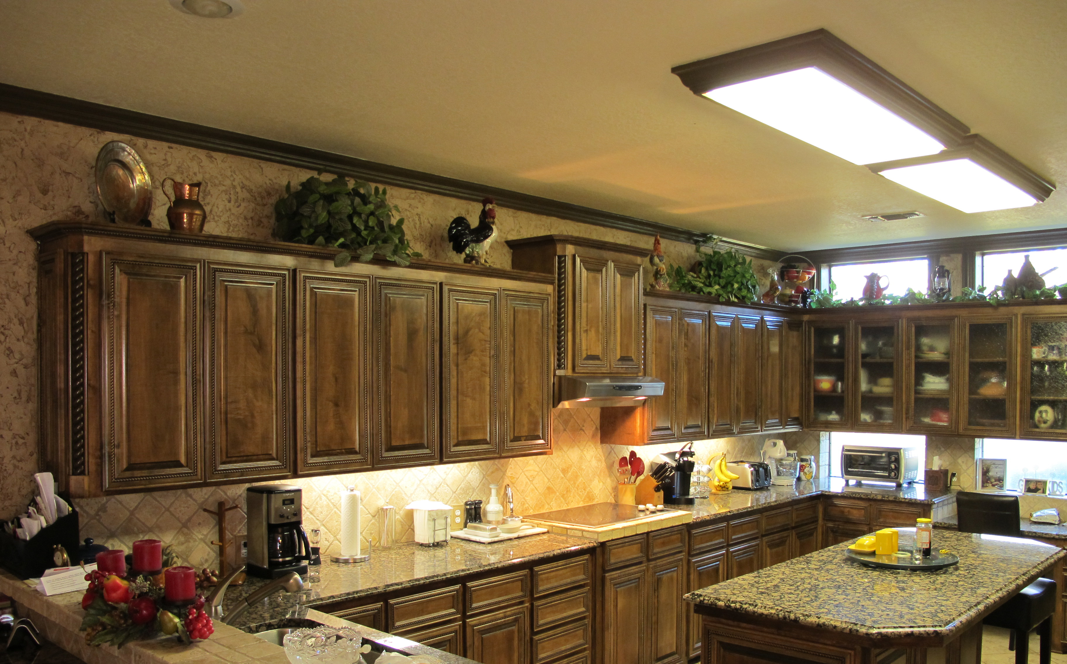 nice Decorative Accents For Kitchen #2: Kitchen Cabinet Decorative Accents